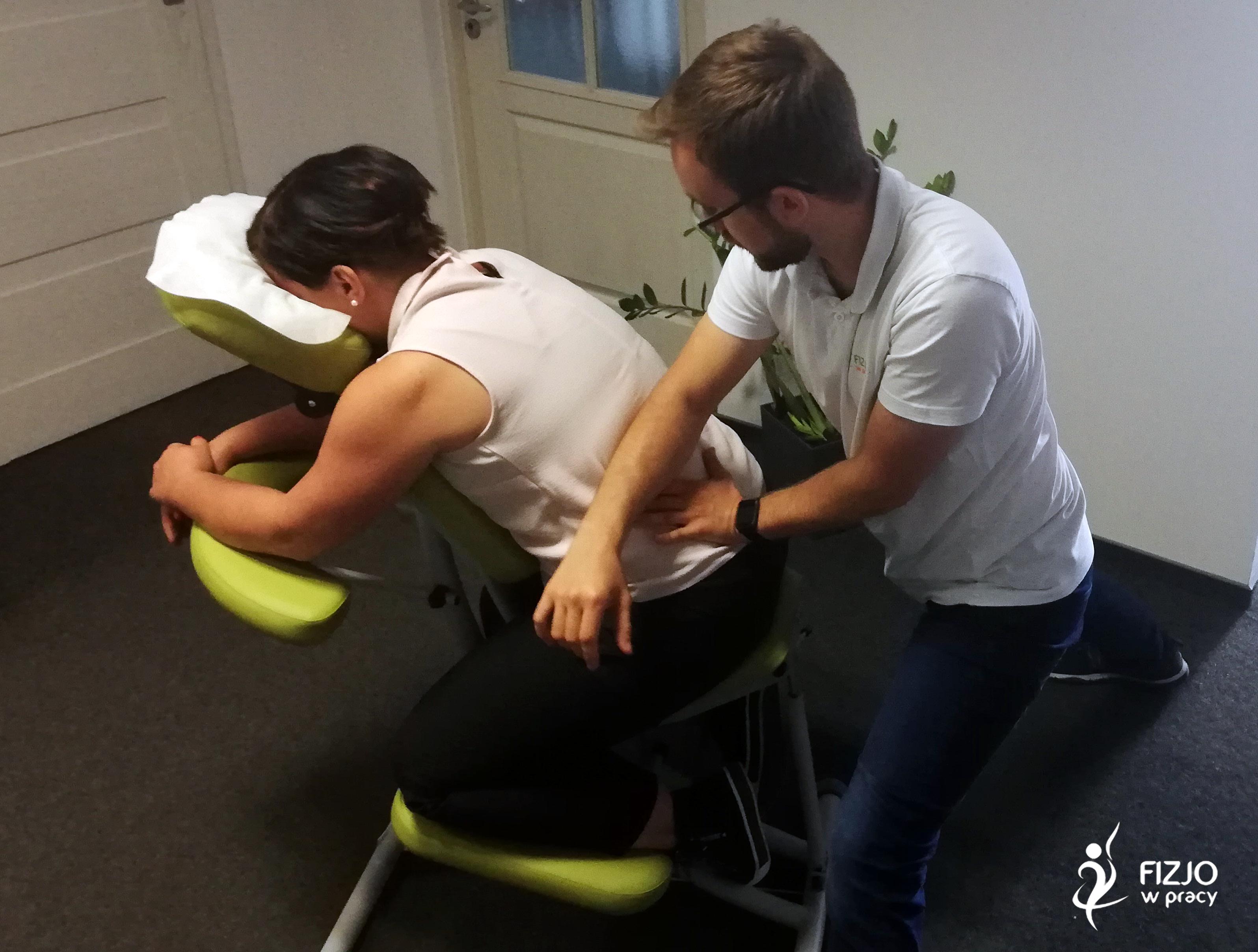 masaż biurowy